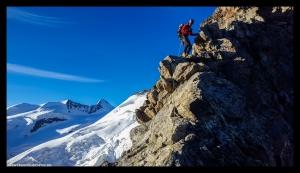 Klettereinlage im Felsteil