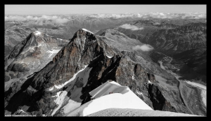 Rückblick auf den ersten Anstieg des Biancograts