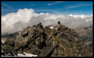 Alex kurz vor dem Gipfel des Piz Bernina