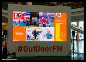 Die Social Media Wall auf der OutDoor 2016