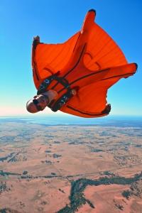 Jarno Cordia mit Wingsuit