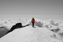 Flo auf den letzten Metern zum Gipfel