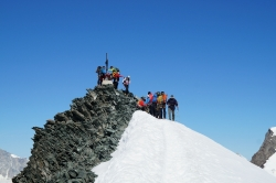 Großer Andrang am Gipfel