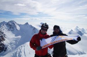 Team abenteuersuechtig auf 4527m - Liskamm Ostgipfel