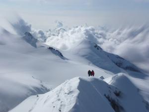 Aussicht auf Monte-Rosa Gipfel