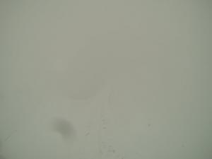 Sicht gleich null auf dem Gipfelgrat