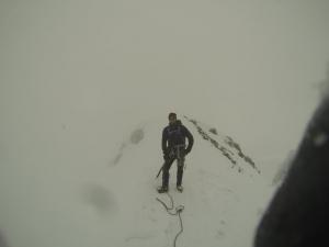 Flo fast am Gipfel