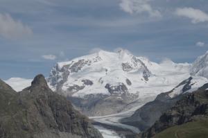 Blick auf das Breithornmassiv