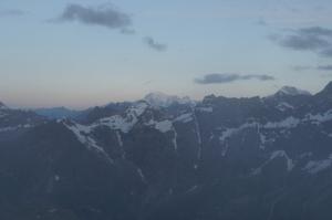 Der Mont-Blanc im Morgenrot