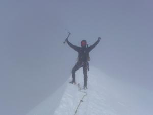 Dennis am Gipfel des Breithorns