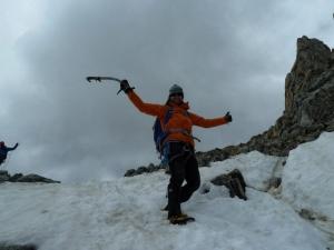 Endlich im Hochtourenurlaub, endlich wieder Eis und Schnee, Flo freut sich!
