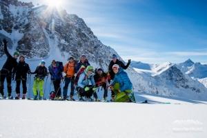 Gruppenbild am Gletscher
