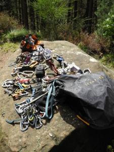Schlaraffenland für einen Gearhead - Unsere Kletterausrüstung