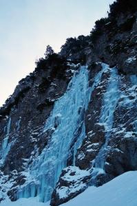 Der Gaisalp-Wasserfall, perfekt zum Eisklettern