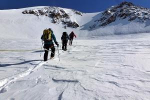 Auf dem Weg zur Wildspitze