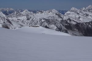 Die Ötztaler Alpen fast verlassen