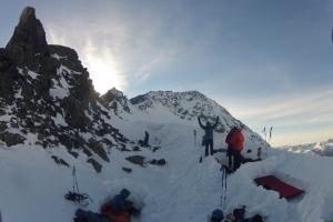 Unser Eiswand-Biwak