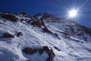Rainer kurz vor dem Wildspitze-Gipfel