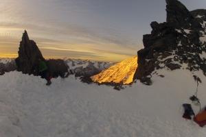 Sonnenaufgang am Mitterkarjoch