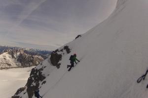 Eine schön steile Nordwand