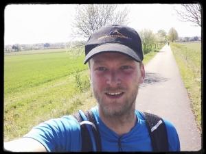 Probehalbmarathon zu den Eltern