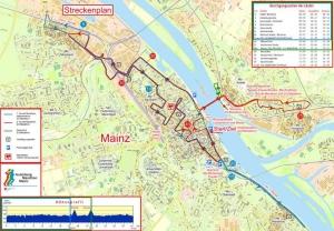 Streckenverlauf des Gutenberg Marathon