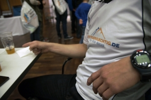 Team-Shirt: check, alkfreies Weizen: check - alles roger!