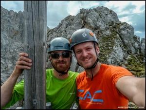 Das Gipfelerlebnis macht mit einem guten Freund noch am meisten Spaß.