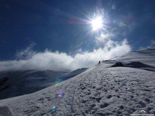 Wundervoller Schneegrat am Weissmies