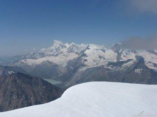 Gipfelaussicht Weissmies 1