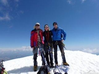 Gipfel Weissmies im Team