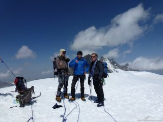 Gipfel Alphubel im Team
