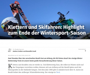 Winterklettersteig Arlberg