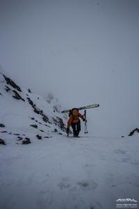 Flo im Aufstieg Jamtalspitze