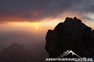 Sonnenaufgang auf der Zugspitze