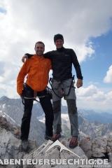Geschafft-Gipfelfoto Alpspitze