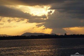 Sonnenuntergang in Pakse