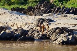 Leben am Ufer des Maekong
