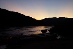 Sonnenuntergang in Pakpeng