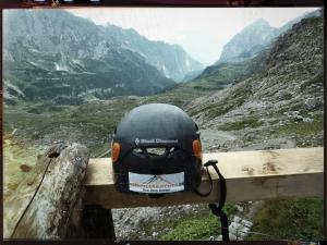 Kaum auf der Hütte, kommt auch der Ausblick