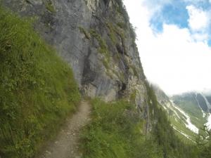 Ganz schön ausgesetzt war der Trail