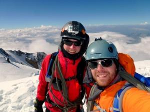 Erschöpfung? Alles vergessen! Wir stehen auf dem Gipfel des Mont Blanc und nur das zählt!