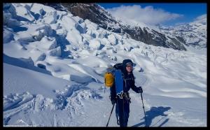 Thomas im Gletscherbruch