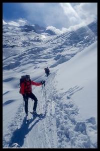 Kay und Dennis im Gletscherbruch