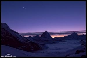 Blaue Stunde am Matterhorn