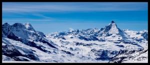 Mont Blanc, Matterhorn, Monte Rosa - Aussicht von der Cima di Jazzi