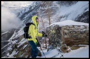 Thomas erkundet die Nordflanken des Hübschhorns