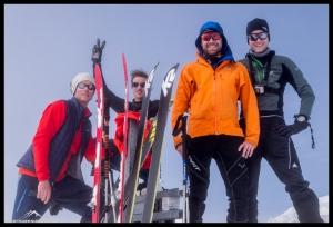 Das Team auf dem Gipfel des Breithorns