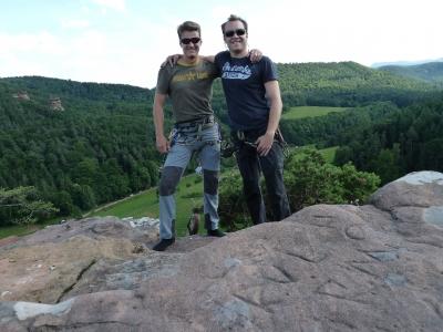 Gipfelfoto von Flo und Dennis