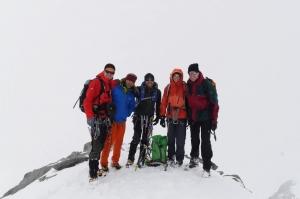 Angekommen auf dem Ostgipfel (3882m) des Piz Palü